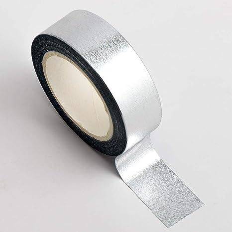 Foil Heart Adhesive Washi Tape 15mm x 10 Metre Rolls