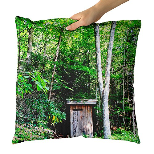 e Landscape - Decorative Throw Pillow Cushion - Picture Photography Artwork Home Decor Living Room - 18x18 Inch (5A4A5) ()