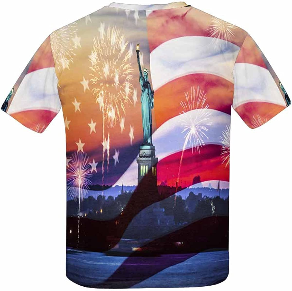 INTERESTPRINT Independence Day Statue of Liberty Kids T-Shirt XS-XL