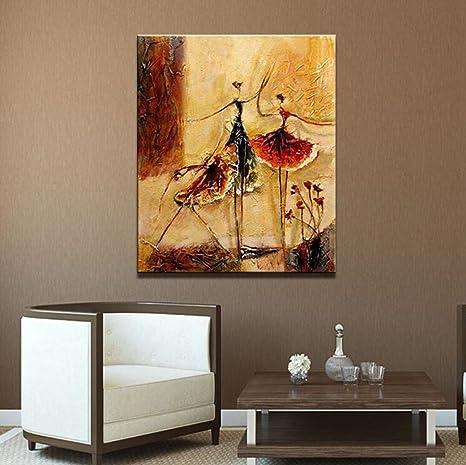 Quadri dipinti a mano olio della ragazza di balletto Legno Dentro ...