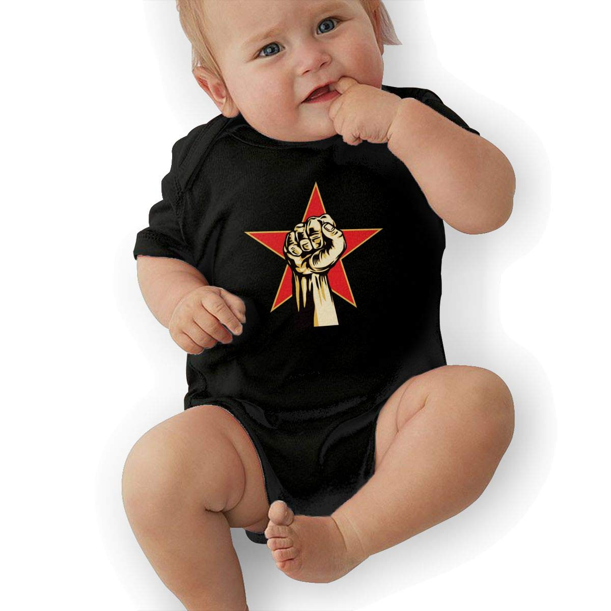HappyLifea Rage Against The Machine Baby Pajamas Bodysuits Clothes Onesies Jumpsuits Outfits Black