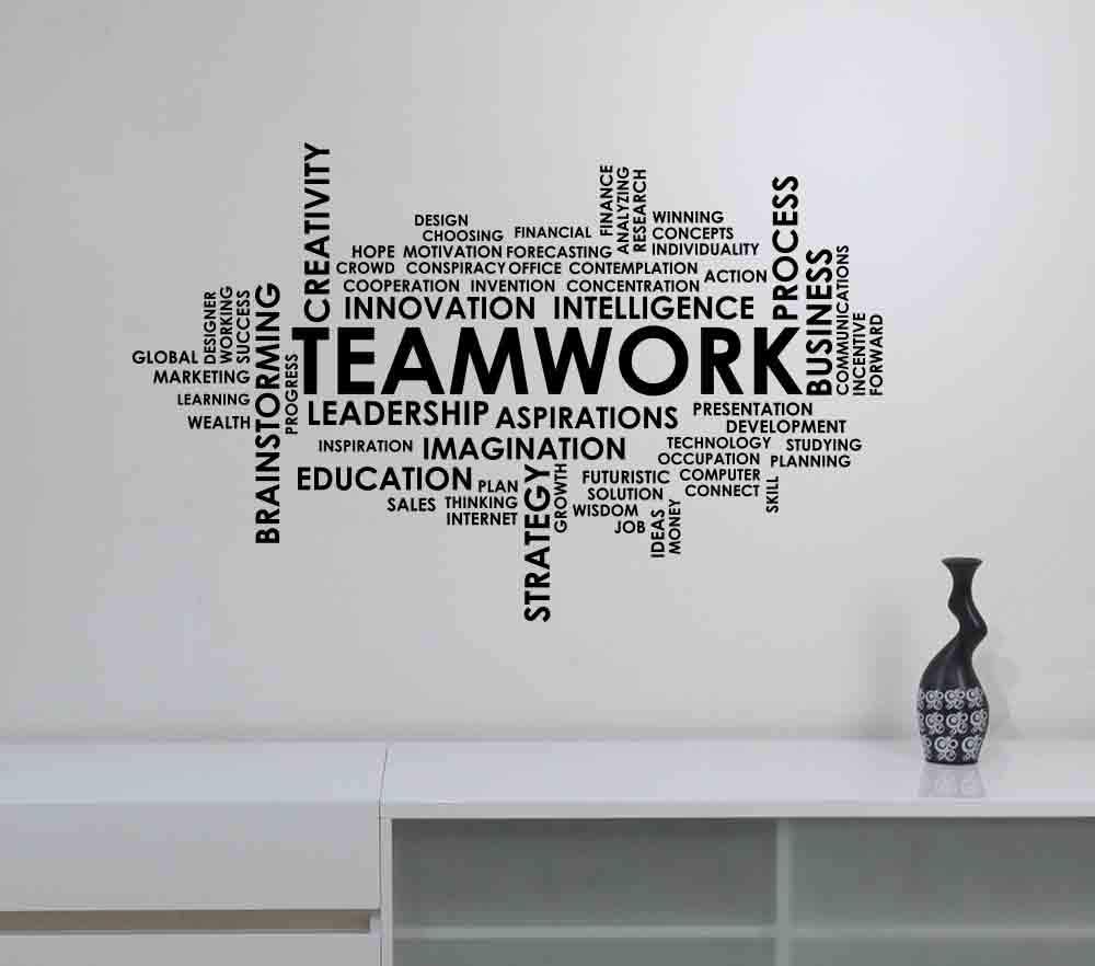 Amazon Com Teamwork Word Cloud Wall Decal Vinyl Lettering
