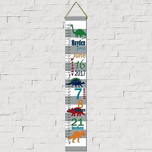 Amazon Dinosaur Birth Information Canvas Growth Chart Print