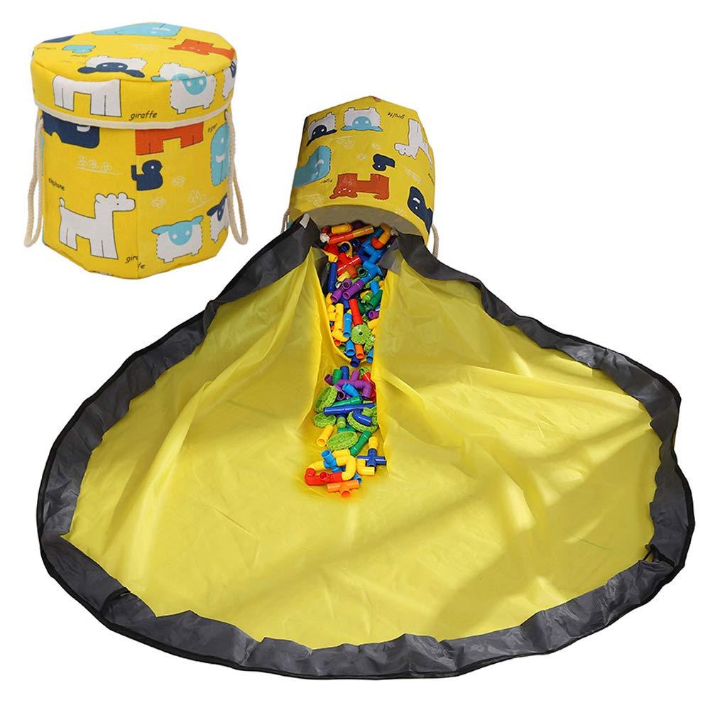 YifKoKo Kinder Aufr/äumsack,Aufbewahrung Beutel Spielzeug mit Drawstring /& Deckel Spieldecke Spielzeug Speicher Tasche Aufbewahrung Beutel Spielzeugaufbewahrung