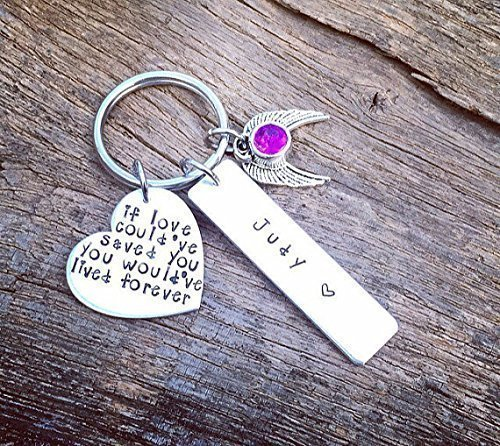 Keepsake Sympathy Gift Memorial Gift If Love Couldve Saved You You Wouldve Lived Forever Loved One Memorial Key Chain Remembrance Loss Of A Loved One Gift
