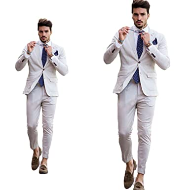Leader Of The Beauty Biege Beach Wedding Men Suits Slim Fit Tuxedos