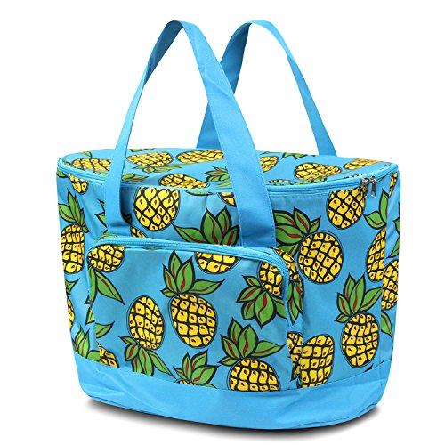 Pineapple Cooler (Zodaca Large Pinic Camping Cooler Bag, Pineapple)