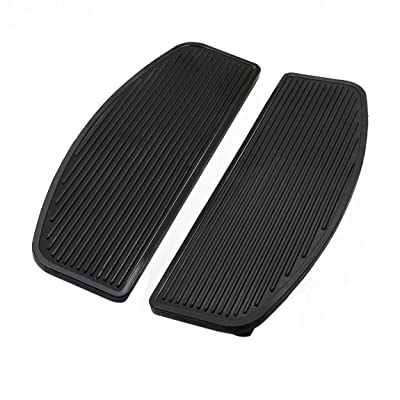 PBYMT Front Rubber Rider Insert Footboard Floorboard Foot Peg Footrest Pad Compatible for Harley Touring Softail Road King Electra Glide 1986-2020: Automotive