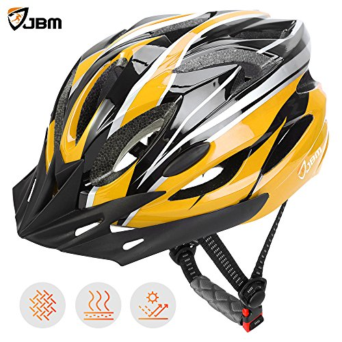 JBM Adult Cycling Bike Helmet Specialized for Mens Womens Safety Protection CPSC Certified - Black / Blue / Red / Yellow