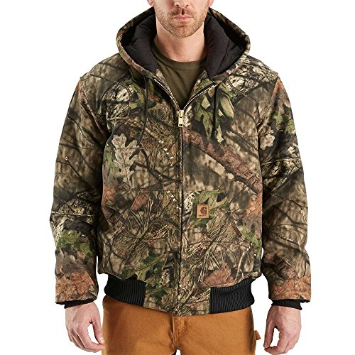 Carhartt Men's J221 Camouflage Active Jacket - Quilted Flannel Lined - Medium - Mossy Oak Break-up Country