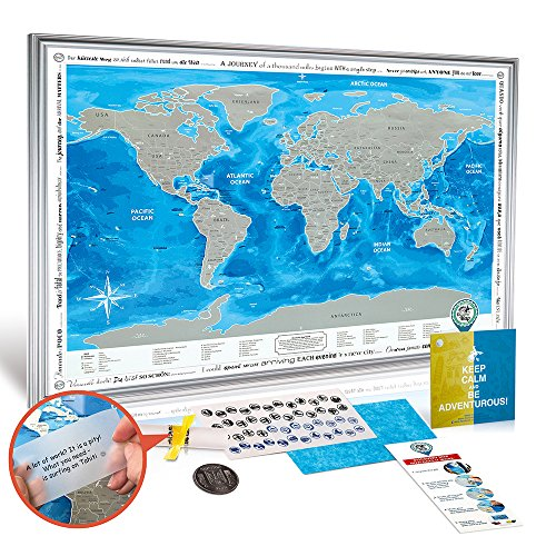 Framed discovery map world framed world map with scratch off framed discovery map world framed world map with scratch off detailed travel content gumiabroncs Image collections