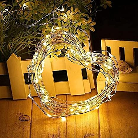 6 Packs-Warm White Wedding Holiday Decoration. LONLEA LED String Lights 5.9ft Battery String Lights Outdoor Indoor Decoration Perfect for Party