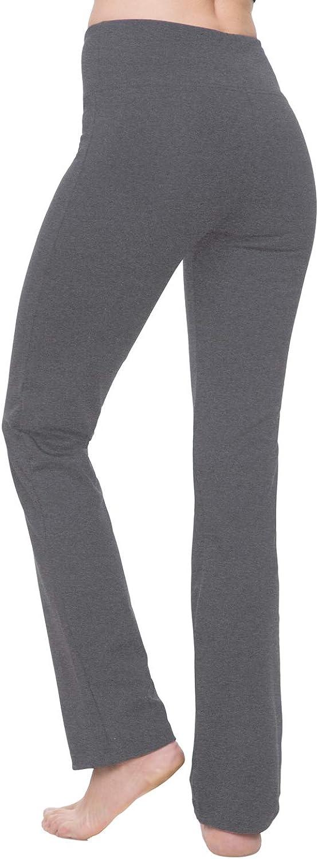 NIRLON Straight Leg Yoga Pants High Waist Leggings for Women Regular /& Plus Size