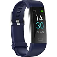 Konesky Fitness Tracker Monitor de Ritmo cardíaco Pulsera de presión Arterial Actividad Reloj Podómetro Contador de…