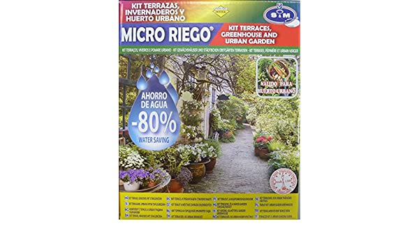 S&M 545009 Kit Completo de microriego por Goteo para 20 Macetas ...
