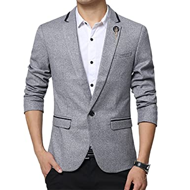 Veste classique grise pour homme