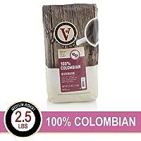 100% Colombian Whole Bean Medium Roast Coffee By Victor Allen, 2.5 Lb Bag