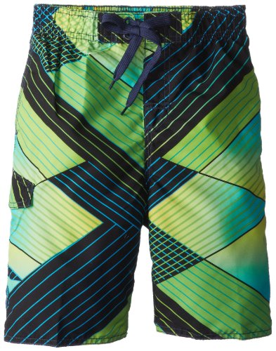 Kanu Surf Big Boys' Y.O.L.O. Swim Trunks, Green, Medium (10/12)