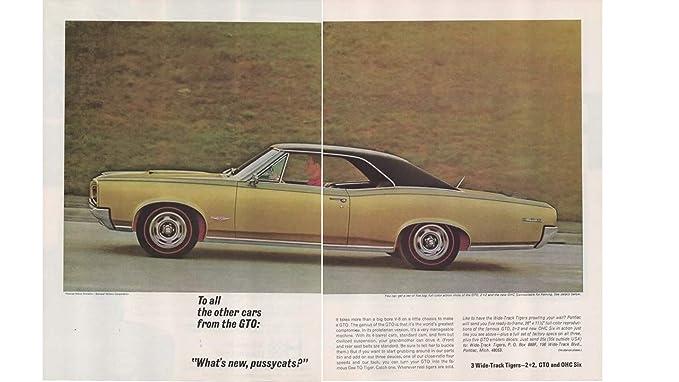 Amazon com: Magazine Print Ad: 1966 Pontiac GTO, 2 + 2, OHC Six, 3