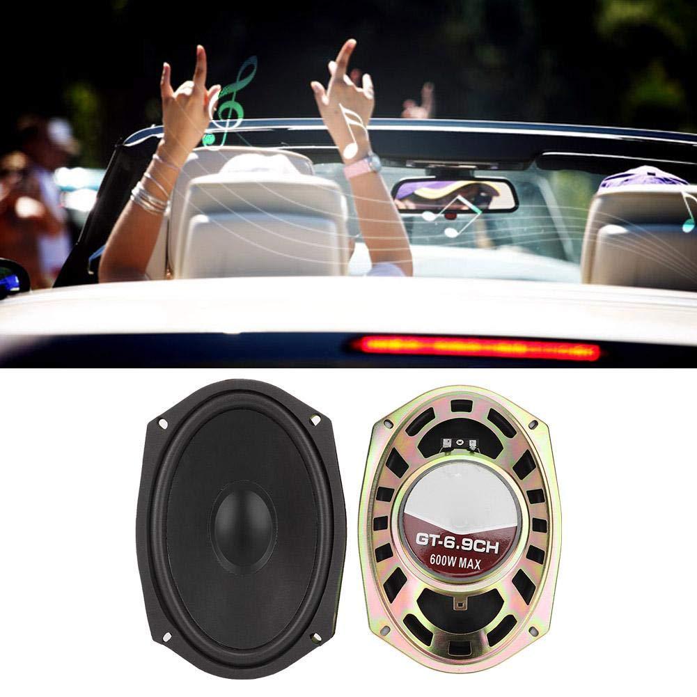 Altavoces para coche 6x9in Color negro Auto Car Hifi Audio est/éreo Altavoces coaxiales Altavoz 600W 12V