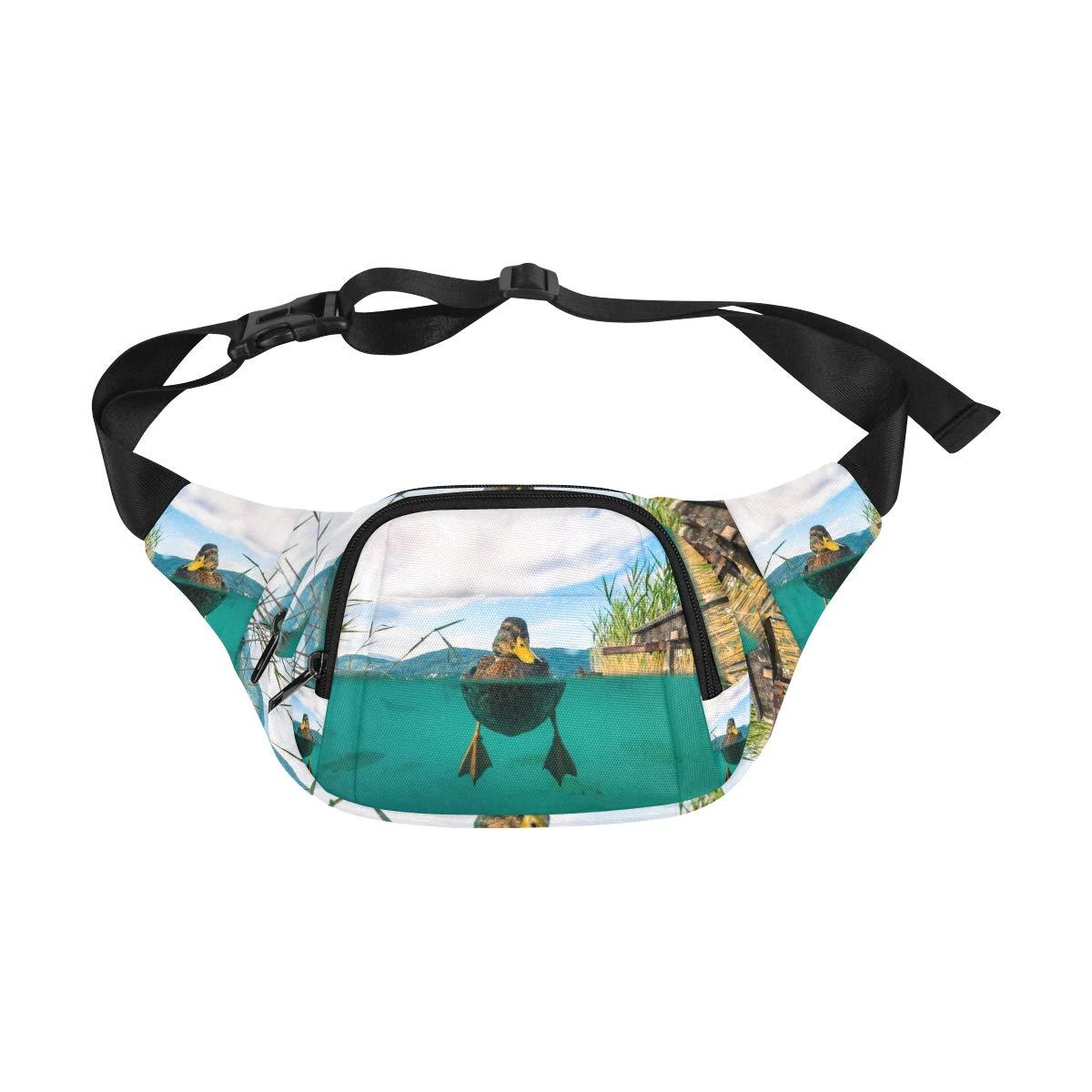 Lovely Yellow Rubber Duck Fenny Packs Waist Bags Adjustable Belt Waterproof Nylon Travel Running Sport Vacation Party For Men Women Boys Girls Kids