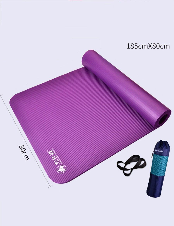 Violet b Pique-Nique épaississement Anti-dérapant de NBR élargissement de Tapis de Yoga de natte d'hommes de Forme Physique d'hommes, Couleur facultative
