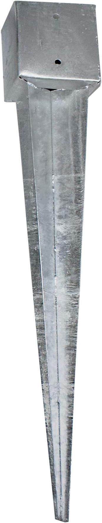 Einschlagbodenh/ülse L/änge: 750mm oder 900mm Einschlagh/ülse Vierkant Erdanker 750x71x71 mm Bodenanker Einschlagh/ülse
