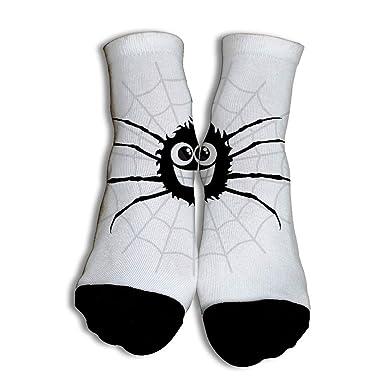 VenenoDulce Happy Spider Baloncesto Calcetines únicos de corte ...