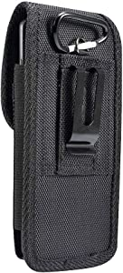 DFV mobile - Belt Case Cover Nylon with Metal Clip Business for ZTE Blade V8 Pro - Black