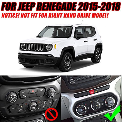 UltaPlay Car Dashboard AC Switch Panel Console Chrome Cover Trim Frame For Jeep Renegade 2017 Car Interior Accessories Styling by UltaPlay (Image #2)