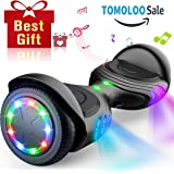 TOMOLOO Hoverboard with Bluetooth Speaker Smart Scooter Two-Wheel Self Balancing Electric Scooter and LED Lights - Black Hover Boards with UL2272 Certified for for Adults and Children. … …