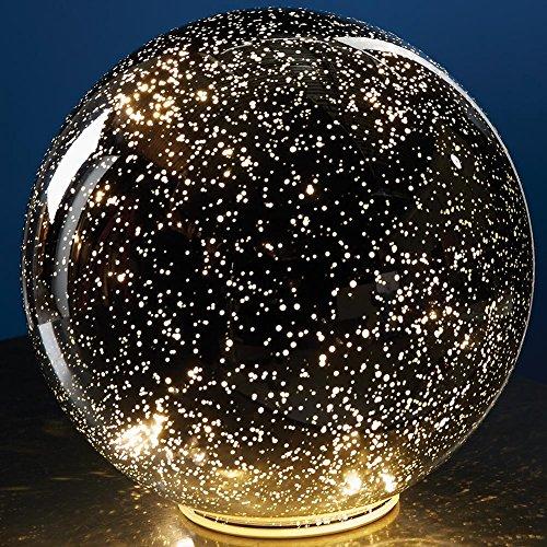 mercury glass table lamp small - 1