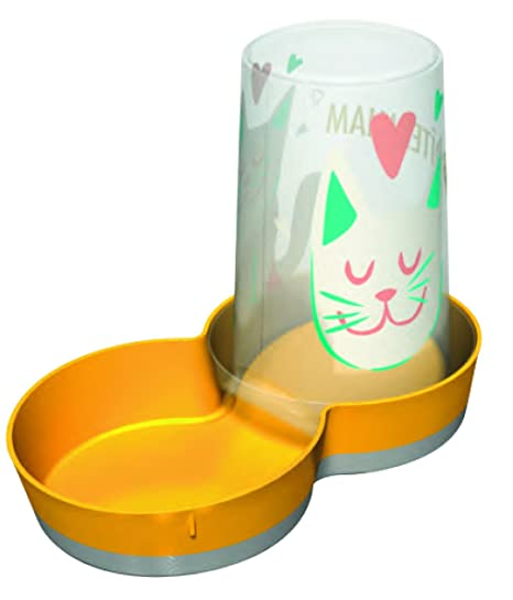 VITAKRAFT - Dispensador de Agua y Alimentos para Gatos (1,5 L)