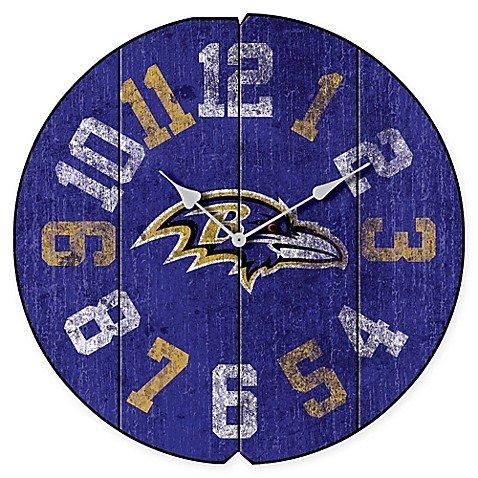 NFL Baltimore Ravens Vintage Round Wall Clock