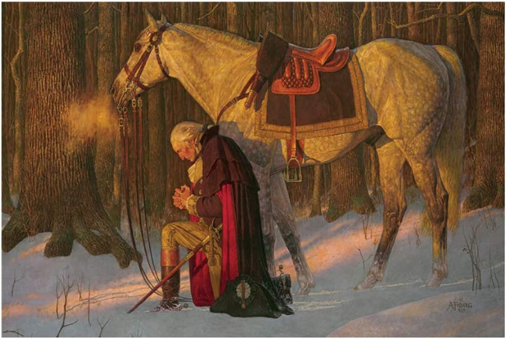 Amazon.com: George Washington Prayer at Valley Forge Canvas Painting Living  Room Home Decor Modern Mural Art Painting/60X90cm-No Frame: Posters & Prints