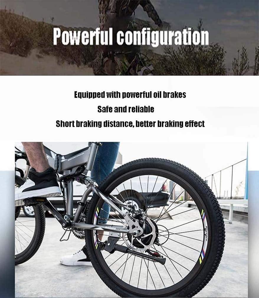 WJSW Bicicleta montaña eléctrica para Hombre Adulto, batería Litio ...