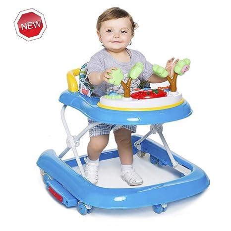 WMYJXD Andador para bebé,con música 2 en 1, 3 Alturas Regulables ...