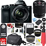 Sony Alpha 7K Mirrorless E-mount Camera with Full Frame Sensor and FE 28-70mm F3.5-5.6 OSS Lens SEL2870 + 64GB SDXC Memory Kit + Spare Battery Accessory Bundle