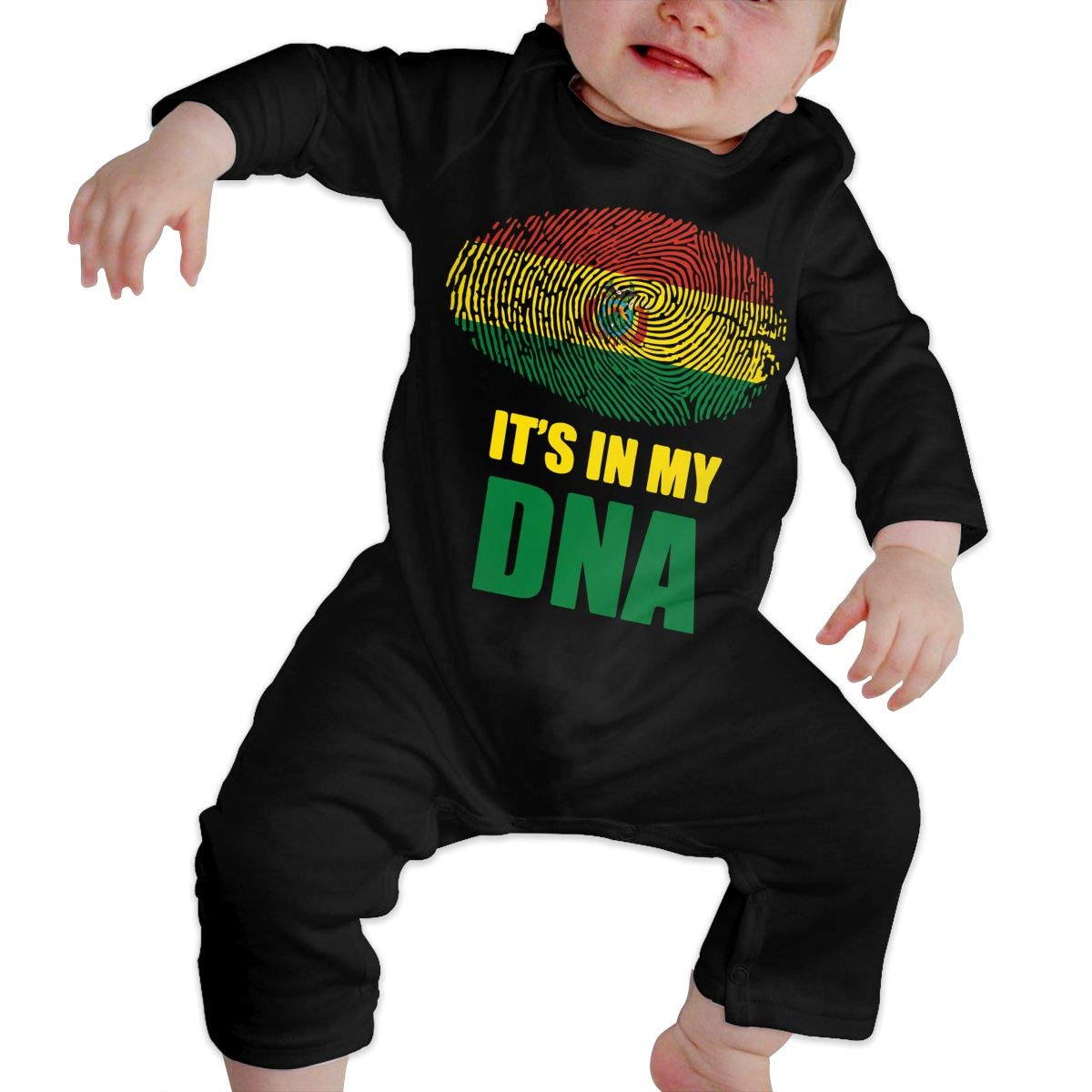 Toddler Baby Boy Girl Coverall Bolivian Its in My DNA Toddler Jumpsuit