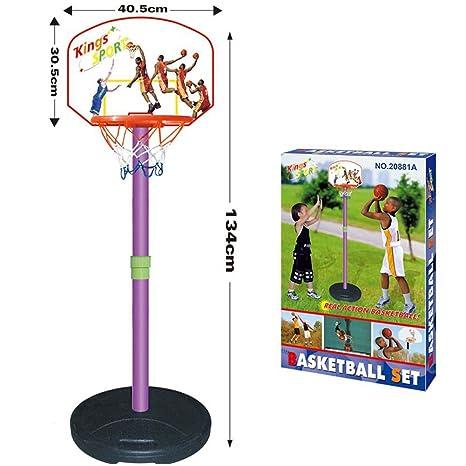 7a6cf887ca36 Vetrineinrete Canestro basket per bambini con supporto piantana regolabile  in altezza fino a 134 cm e