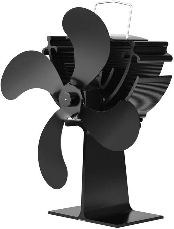 AFYH Ventilador de la Chimenea, Ventilador de Estufa Ventilador de Estufa con energía térmica de 4 aspas para Estufa de leña/Chimenea/Gas/Pellets/Madera/Troncos