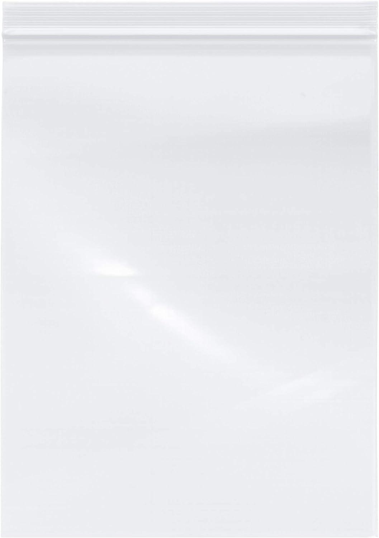 "Plymor Zipper Reclosable Plastic Bags, 2 Mil, 9"" x 12"" (Pack of 200)"