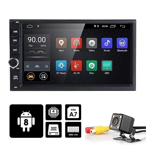 Universal 2Din coche Auto Radio GPS navegación hizpo 7 Pulgadas pantalla táctil Android 8.1 OS 2 ...