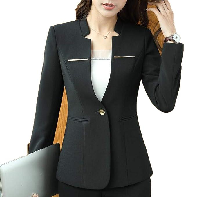 Amazon.com: New Spring Professional Blazer Fashion Business ...