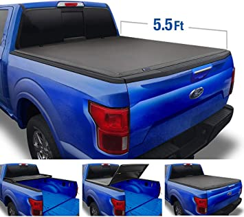 Amazon Com Tyger Auto Black Top T3 Soft Tri Fold Truck Tonneau