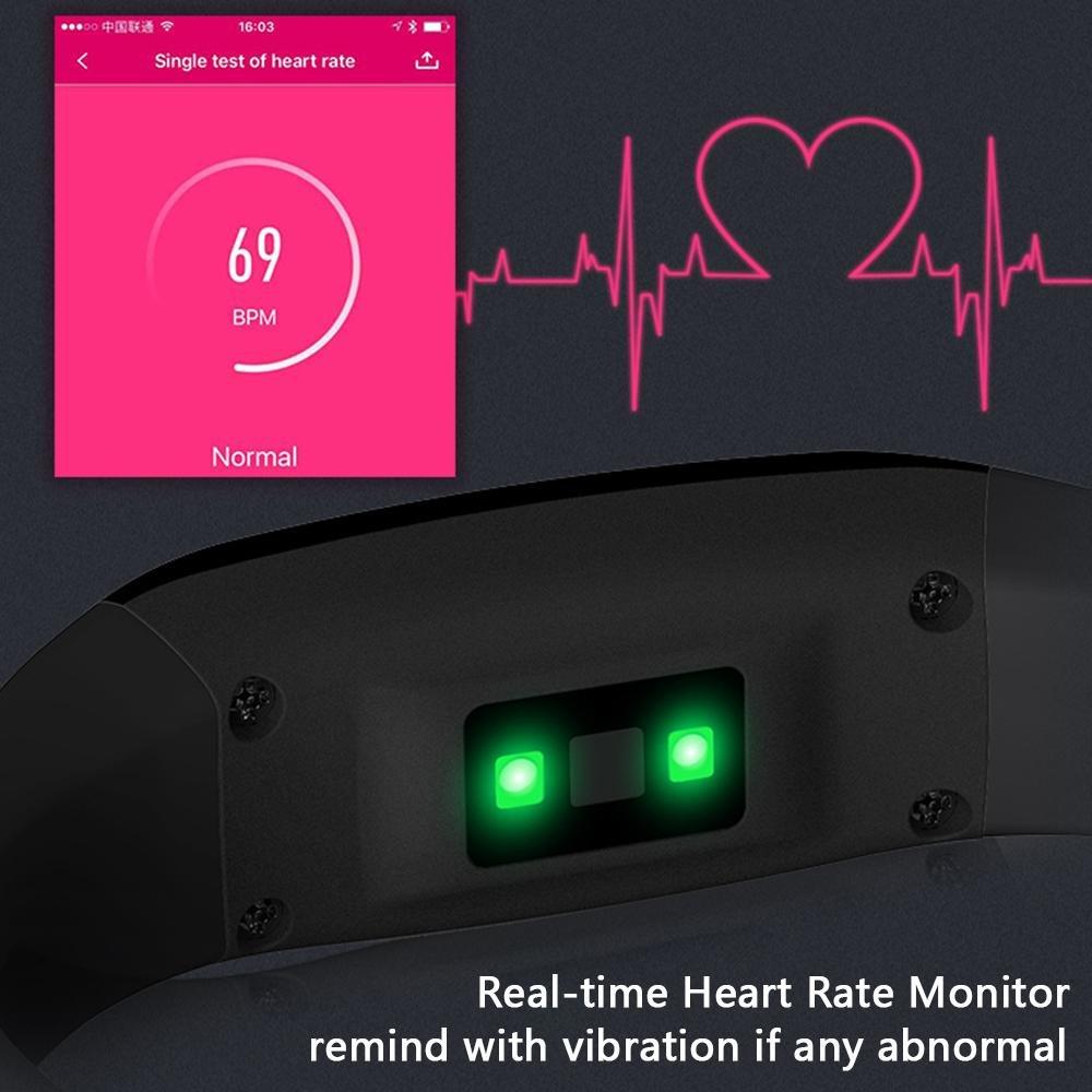 KOBWA Pulsera de Actividad con Pulsómetro,Tensiometro, Monitor de Sueño,Podómetro, Monitor de Calorías,IP67 Impermeable Pulsera Inteligente Actividad ...