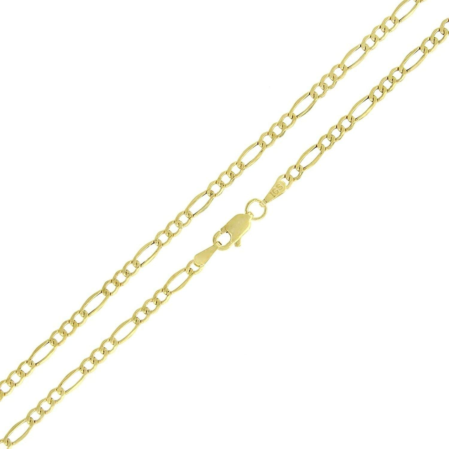 Becca Code 14k Yellow Gold 2MM Hollow Figaro Chain Necklace 24''