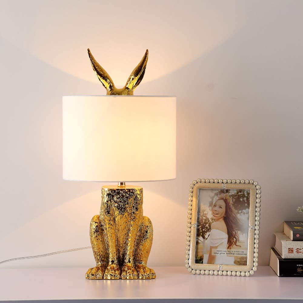 Gal Creative Nordic Modern Table Lamp/Bedroom Bedside Lamp/Living Room Hotel Project Decoration Rabbit Table Lamp 24 × 49cm Protect Eyes by Gal