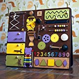 Shafa-16 European quality. Handmade Wooden Busy board, Clever Puzzles, Locks and Latches Activity Board