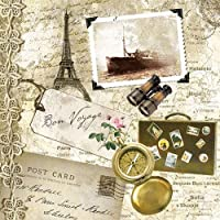48 X 33 Cm Multicolor, Stamperia Papel de Arroz Postcard con Rosas